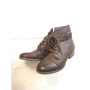 Brown Madden Girl army combat boots
